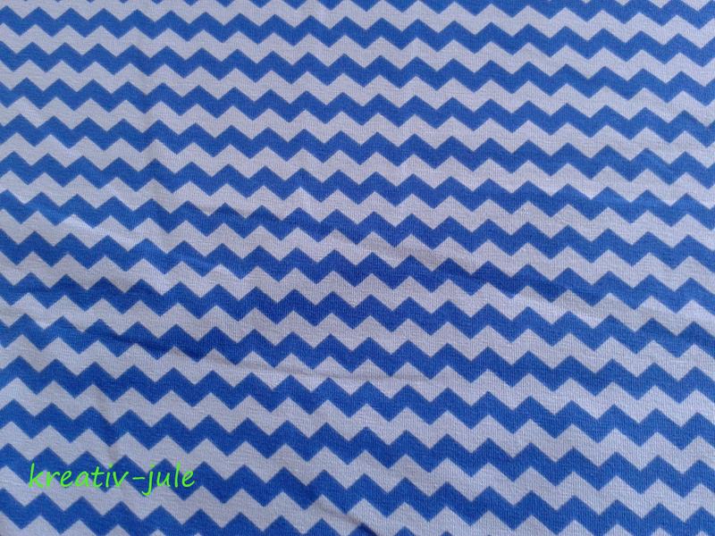 Jersey Chevron Baumwolljersey blau-hellblau 2