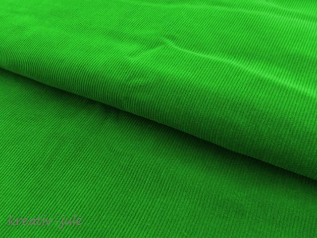 Feincord Babycord grün apfelgrün - 1