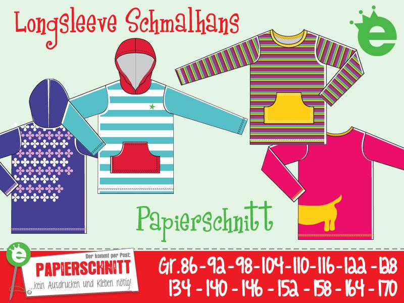 Papierschnittmuster Schmalhans Gr 86-170
