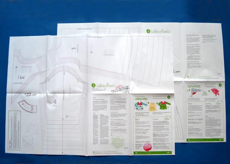 Papierschnittmuster Lieblings-Tunika Gr 74-122 2
