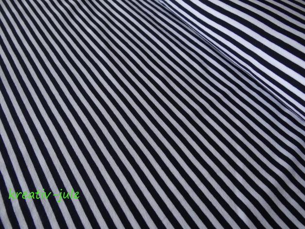 Bündchen Ringelbündchen blau marine weiß - 1
