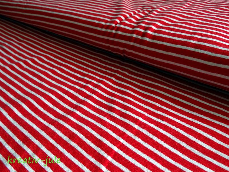 Jersey Streifen rot weiß Ringel - 1