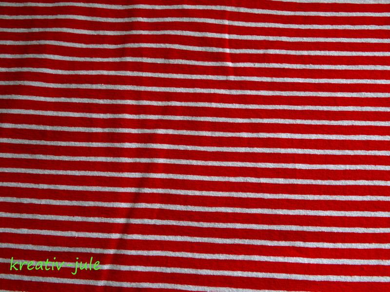 Jersey Streifen rot weiß Ringel 2