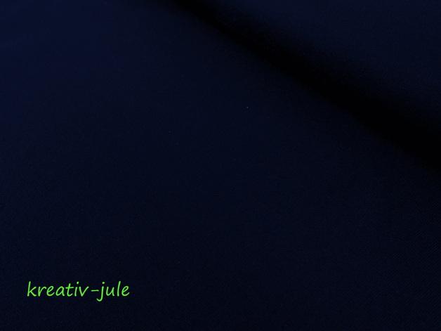 Jersey dunkelblau marine Baumwolljersey - 1