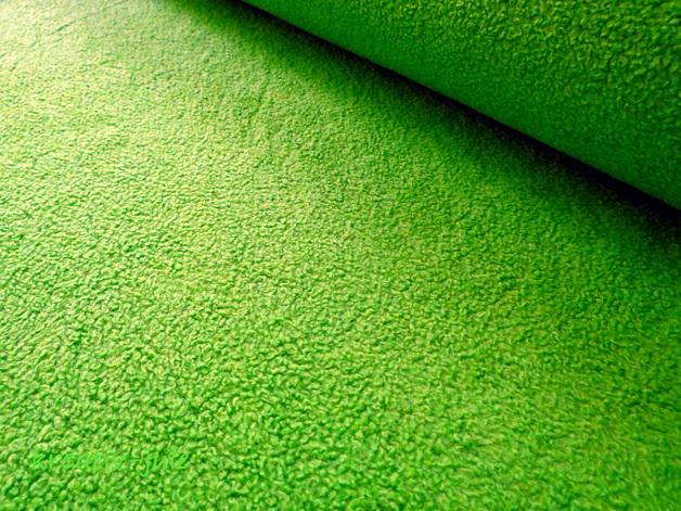 Baumwollfleece Fleece apfelgrün grün kiwi - 1