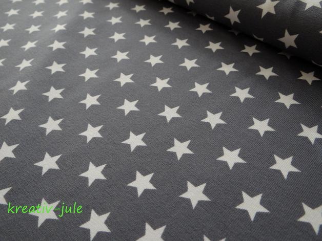 Jerseystars Sterne Jersey grau weiß - 1