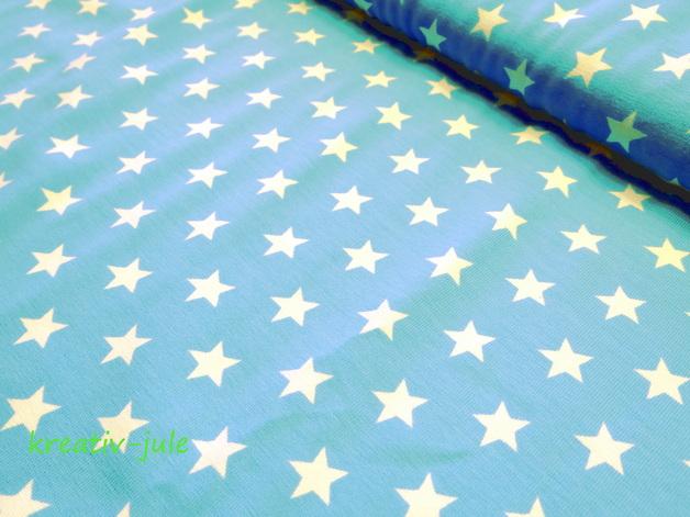 Jerseystars Sterne Jersey türkis hellblau weiß - 1