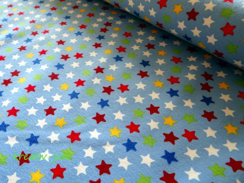 Jersey Sterne blau rot gelb grün weiß - 1