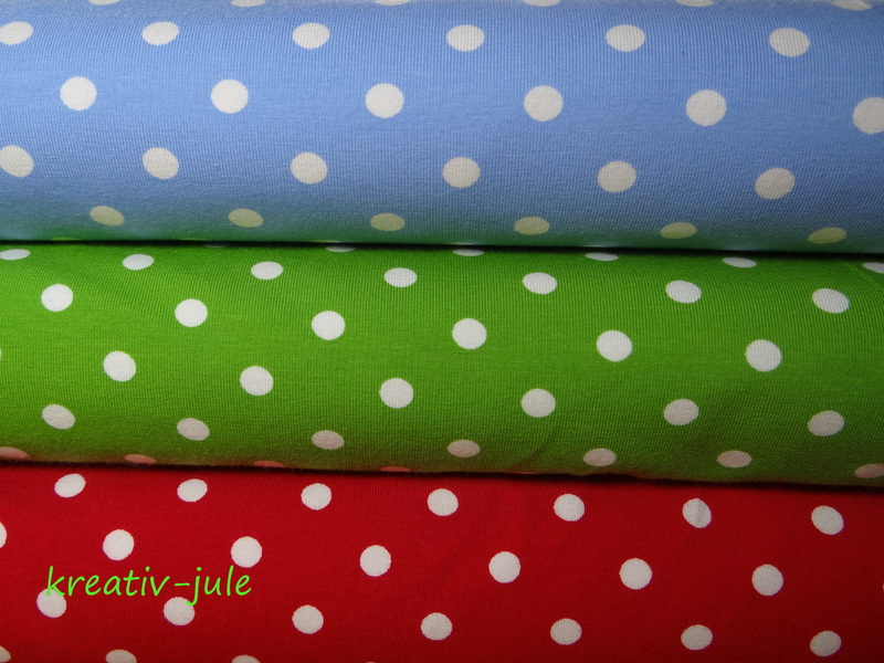 Jersey Punkte Dots Tupfen rot - 2