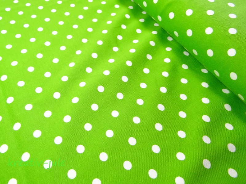 Jersey Punkte Dots Tupfen grün, kiwi, hellgrün - 1