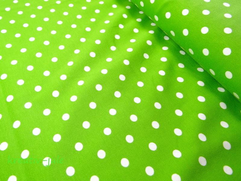 Jersey Punkte Dots Tupfen grün kiwi - 1