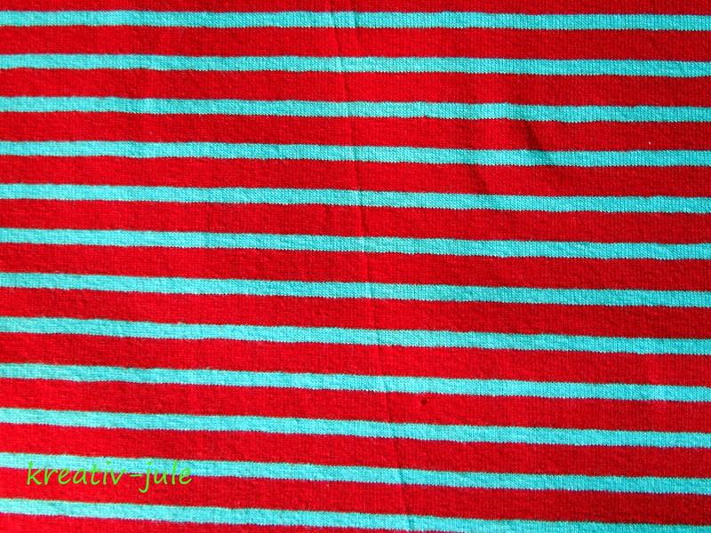 Streifenjersey rot/hellblau Ringeljersey - 2