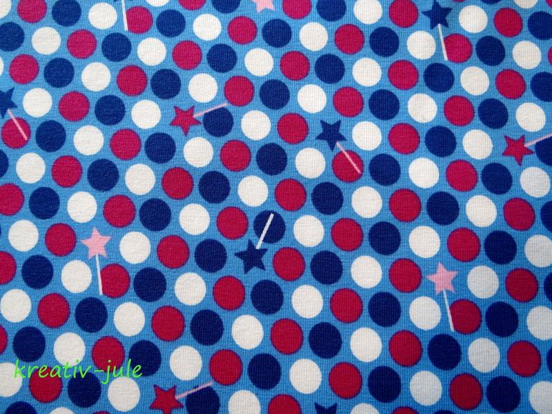 Jersey-Fiona Fee- Blaubeerstern-blau Stern Punkte