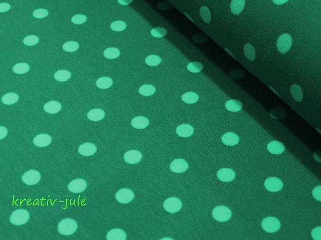 Jersey Punkte Dots Tupfen helles petrol mint