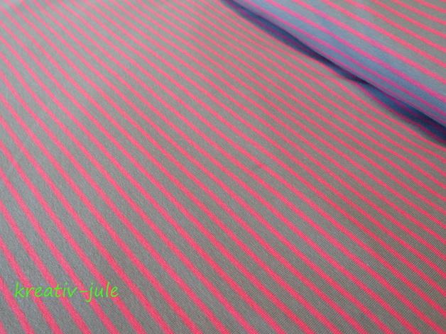 Streifenjersey grau pink/rosa Ringeljersey