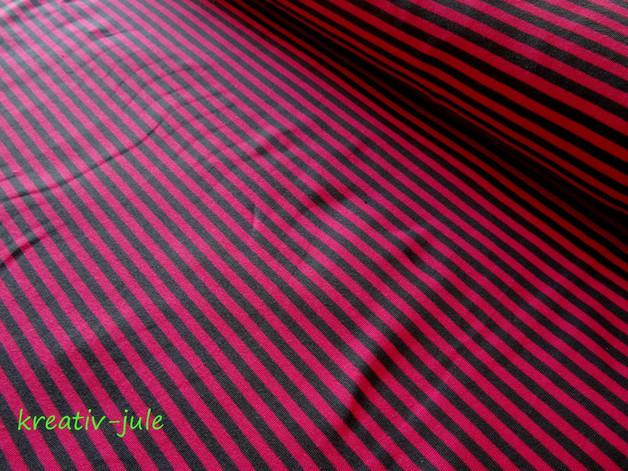 Jersey Ringel Streifen gestreift pink grau