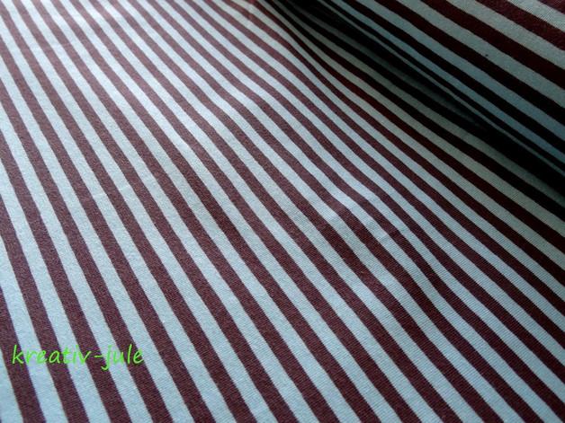 Jersey Ringel Streifen gestreift blau türkis grau - 1
