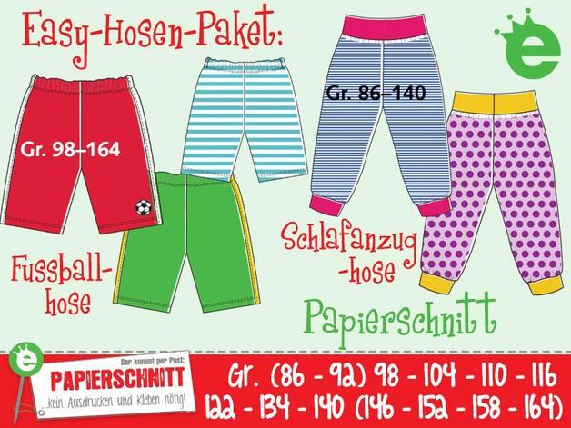 Papierschnittmuster Easy-Hose Gr 86-164 - 1