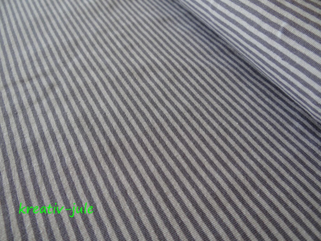 Streifenjersey grau dunkelgrau Ringeljersey - 1