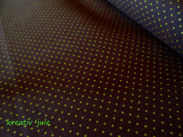 Baumwolle Punkte dunkelbraun gold