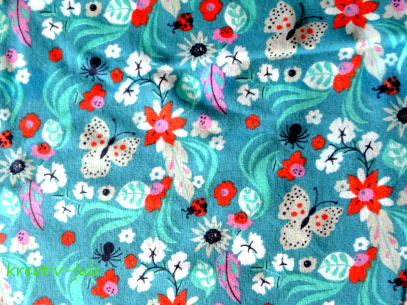 Sweat Freren türkis Blumen Federn 2