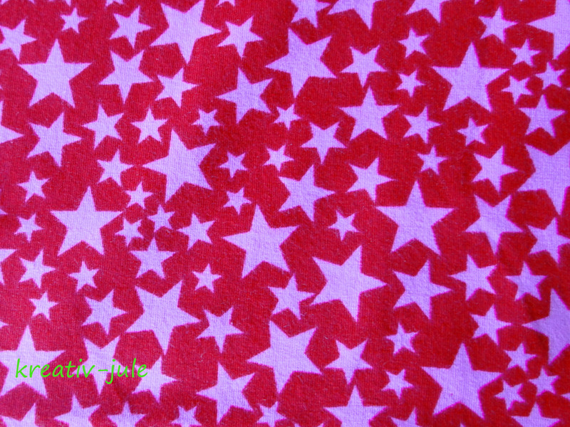 Jersey Sterne rot rosa 2