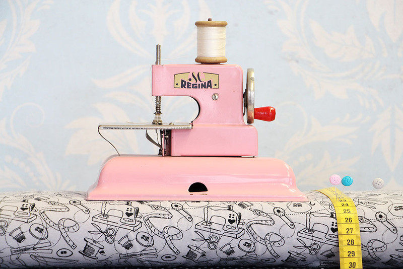 Jersey sewing cherry picking grau