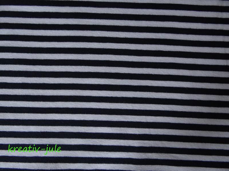 Streifenjersey blau marine weiß Ringeljersey - 2