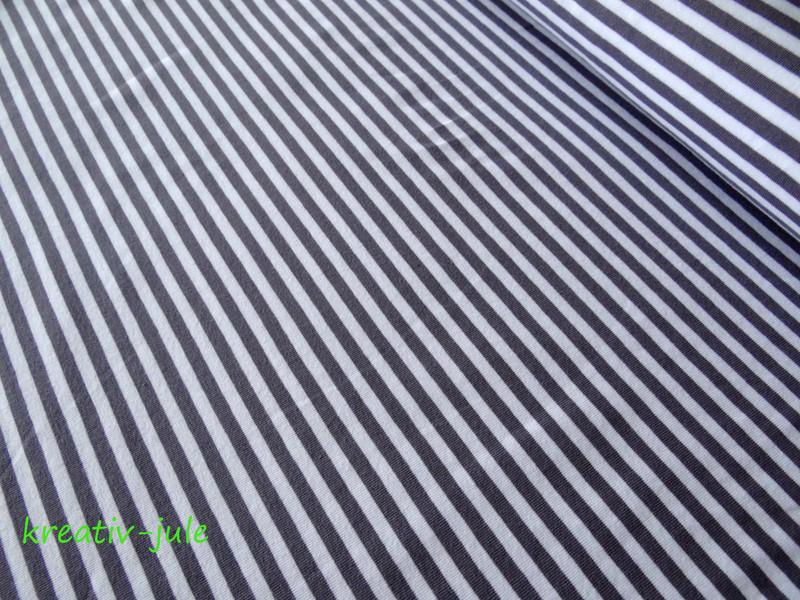 Streifenjersey grau anthrazit weiß Ringeljersey - 1