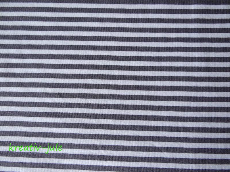 Streifenjersey grau anthrazit weiß Ringeljersey 2