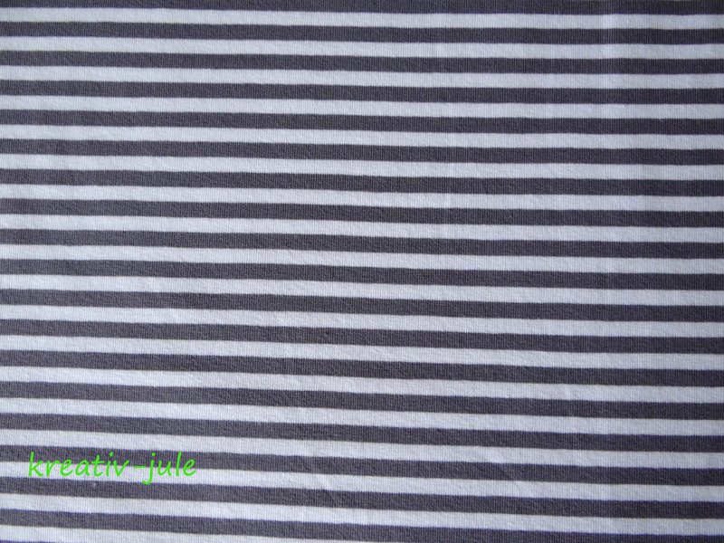 Streifenjersey grau anthrazit weiß Ringeljersey - 2