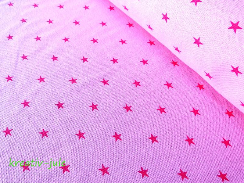 Bündchen Sterne rosa pink