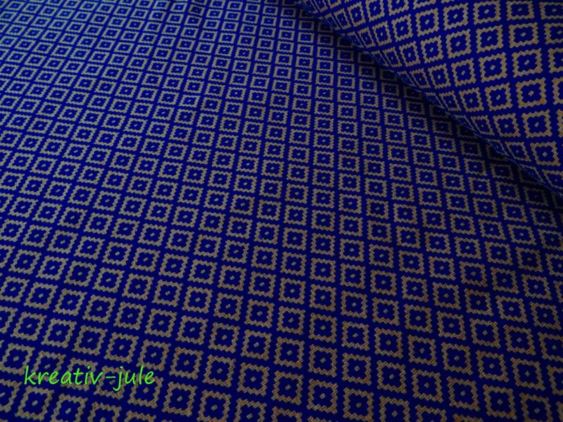 Jersey Pixel braun blau schlamm Pixelquartett