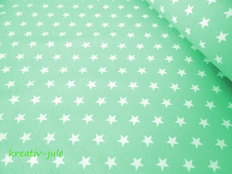 Jersey Sterne Sternenjersey pastell mint - 1