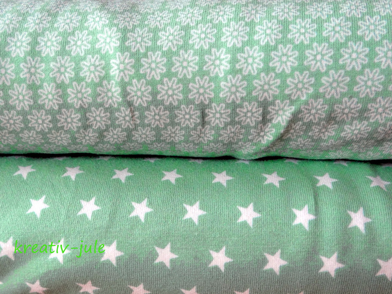 Jersey Sterne Sternenjersey pastell mint