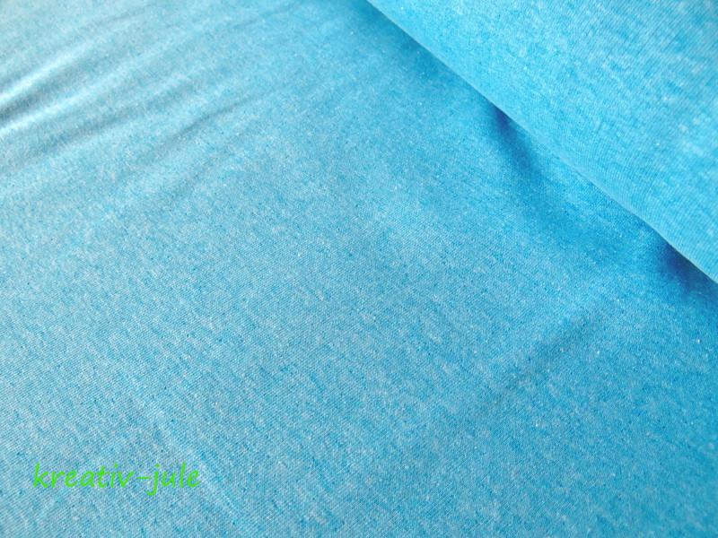 Sweat blau hellblau türkis meliert melange - 1