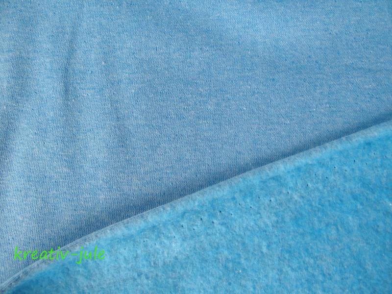 Sweat blau hellblau türkis meliert melange - 2