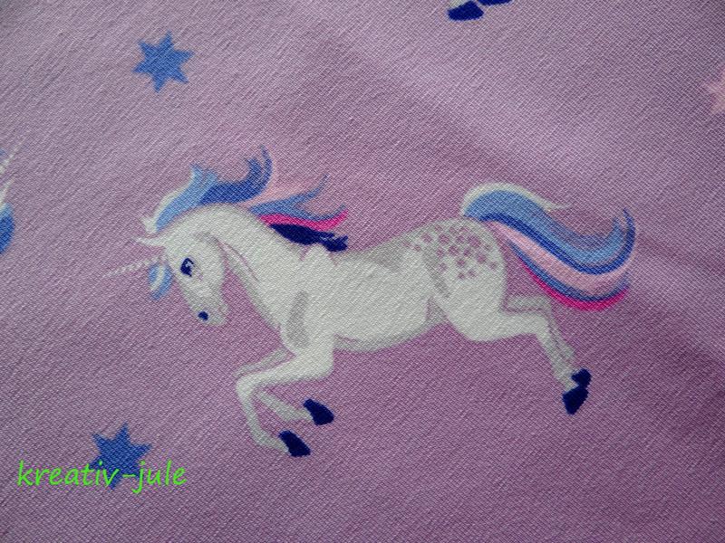 Jersey Einhorn Pferd rosa altrosa tuerkis Sterne