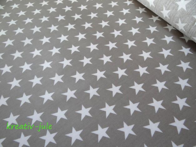 Beschichtete Baumwolle beige Sterne 50x70cm - 1