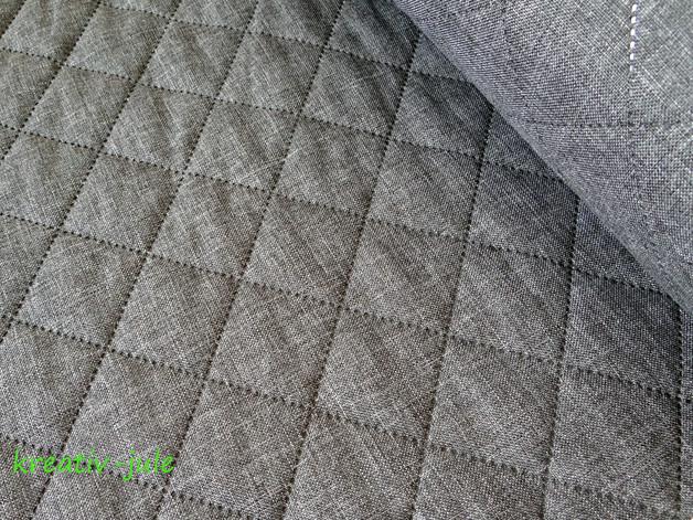 Taschenstoff moskau grau anthrazit meliert - 1