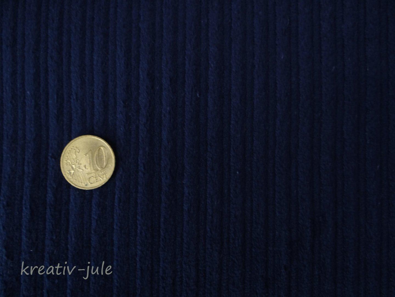 Breitcord Cord Strechcord dunkelblau blau marineblau - 1