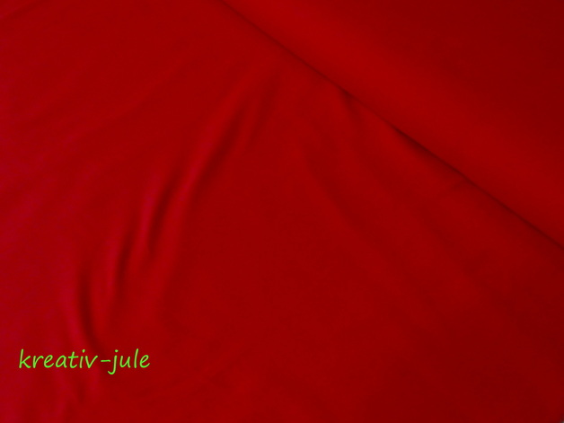 Baumwolle Fahnentuch rot Uni