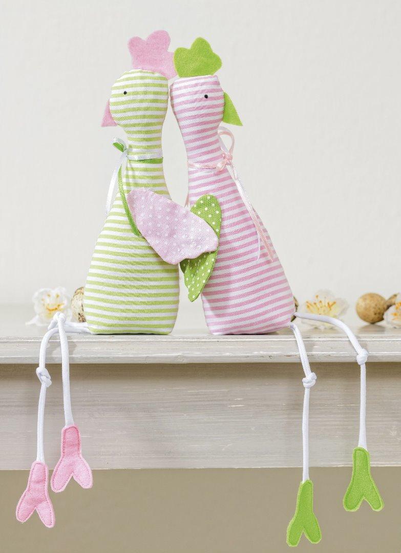 Materialpaket Landgang Huhn Lotte Streifen rosa