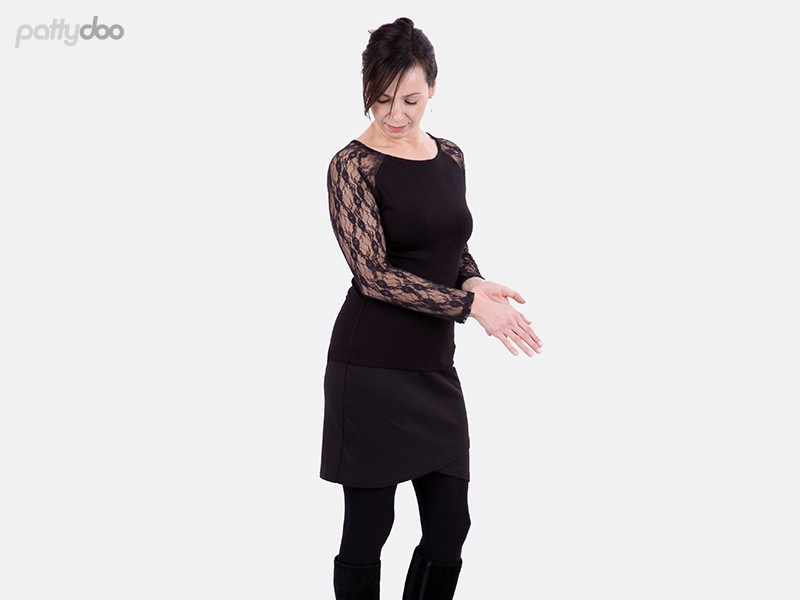 Schnittmuster Mellie Raglanshirt Kleid pattydoo 3