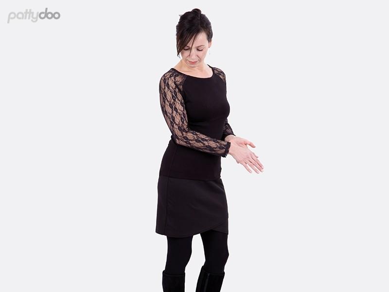 Schnittmuster Mellie Raglanshirt Kleid pattydoo