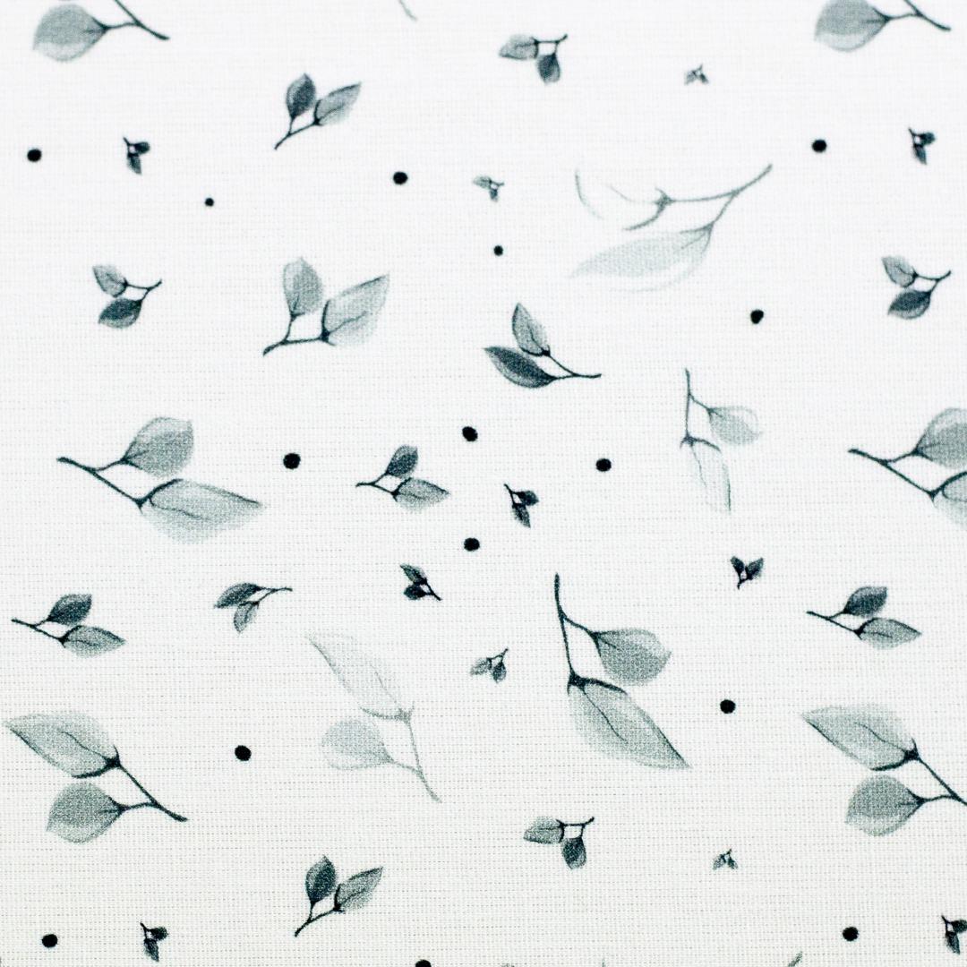 Baumwolle Sudbina weiß zarte Blätter 2
