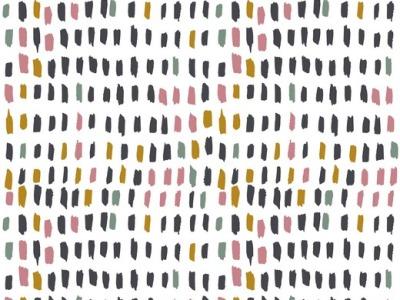 Canvas Baumwollstoff weiß Pinselstriche Dekostoff Taschenstoff