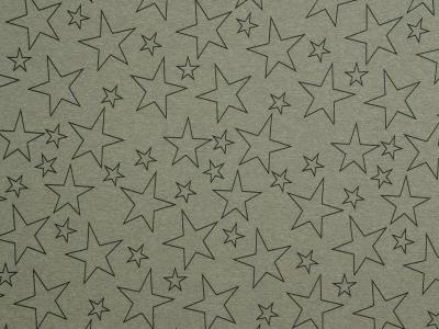 Sweat grau meliert Sterne Meterware Swafing