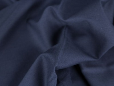 Baumwolle Fahnentuch dunkelblau blau Uni marine