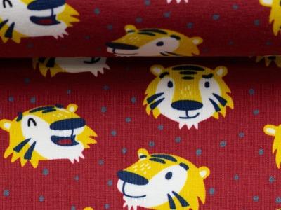 Jersey Tiger rot by Käselotti Baumwolljersey